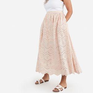 Express X Karla High Waisted Eyelet Lace Skirt